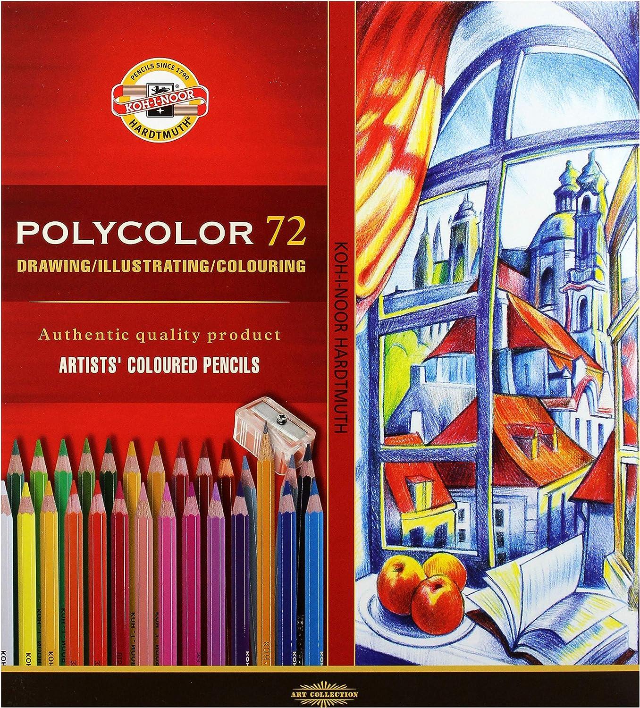 for Artist KOH-I-NOOR Pastel Pencils White Black Assorted Colours Skin-Colour