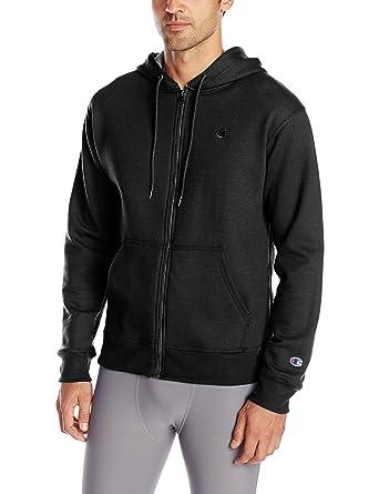 Champion Men's Powerblend Fleece Full-Zip Hoodie at Amazon Men's ...