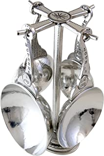 product image for Crosby & Taylor Mother's Love Pewter Measuring Cup Set on Pewter Display Post