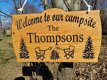 Amazoncom Mildred Rob Camping Signs Camper Sign Campsite Sign