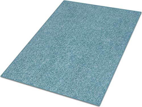 Koeckritz 9 x12 Teal 25.5 oz 1 2 Thick Plush Cut Pile Indoor Carpet Area Rug