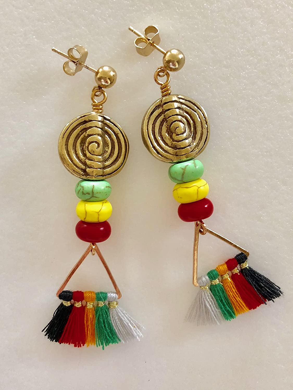 c3b1740f90a Amazon.com  Rasta Earrings
