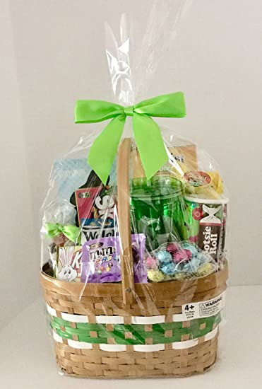 Amazon easter gift basket filled girls boys teens candy easter gift basket filled girls boys teens candy and gifts green negle Gallery