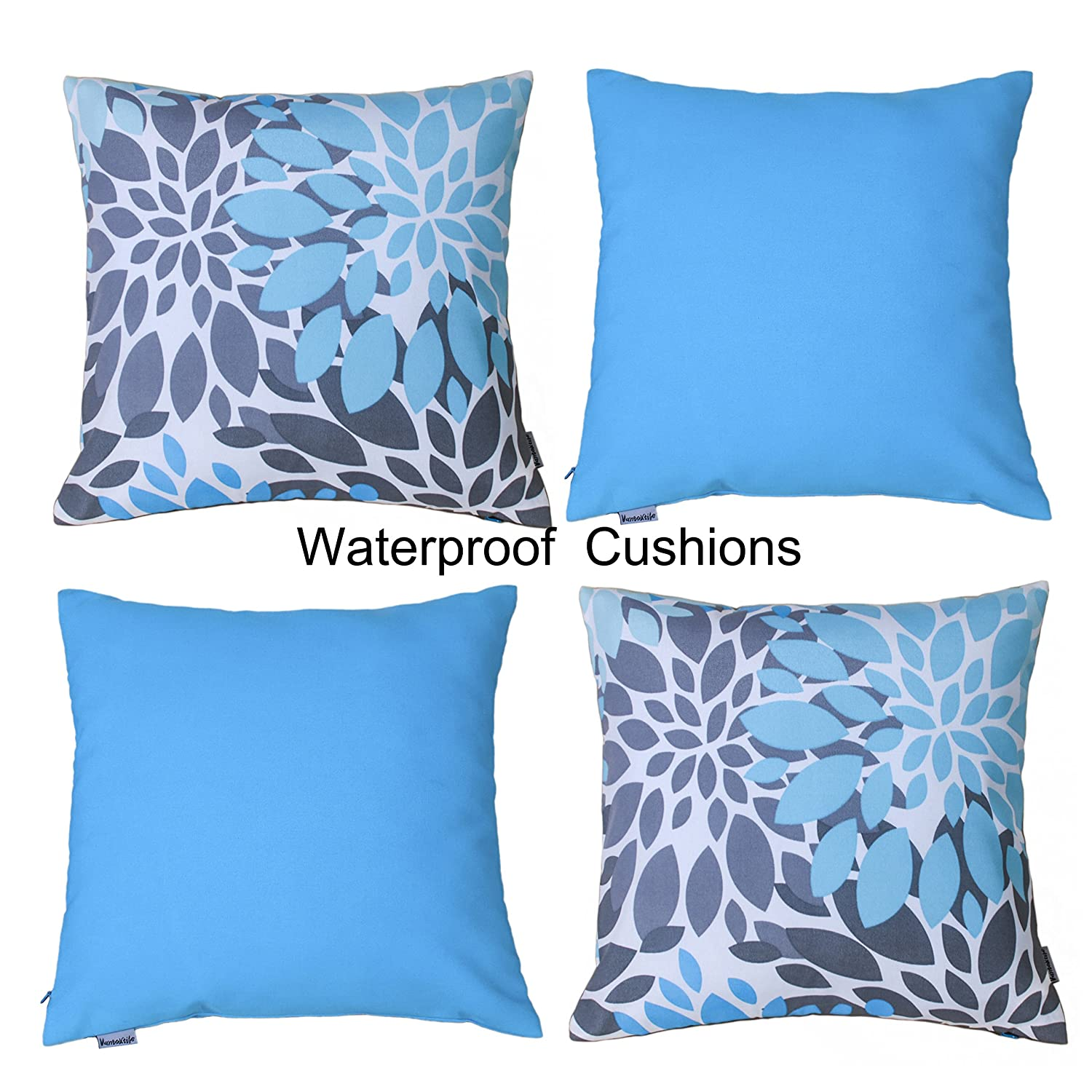 Insert Not Include Outdoor Waterproof Cushion Cover,18x18inch . Vantextile 4PCS Home Decor Cushion Cover