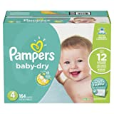 Amazon Price History for:Pampers Baby-Dry Disposable Diapers Size 4, 164 Count, ONE MONTH SUPPLY