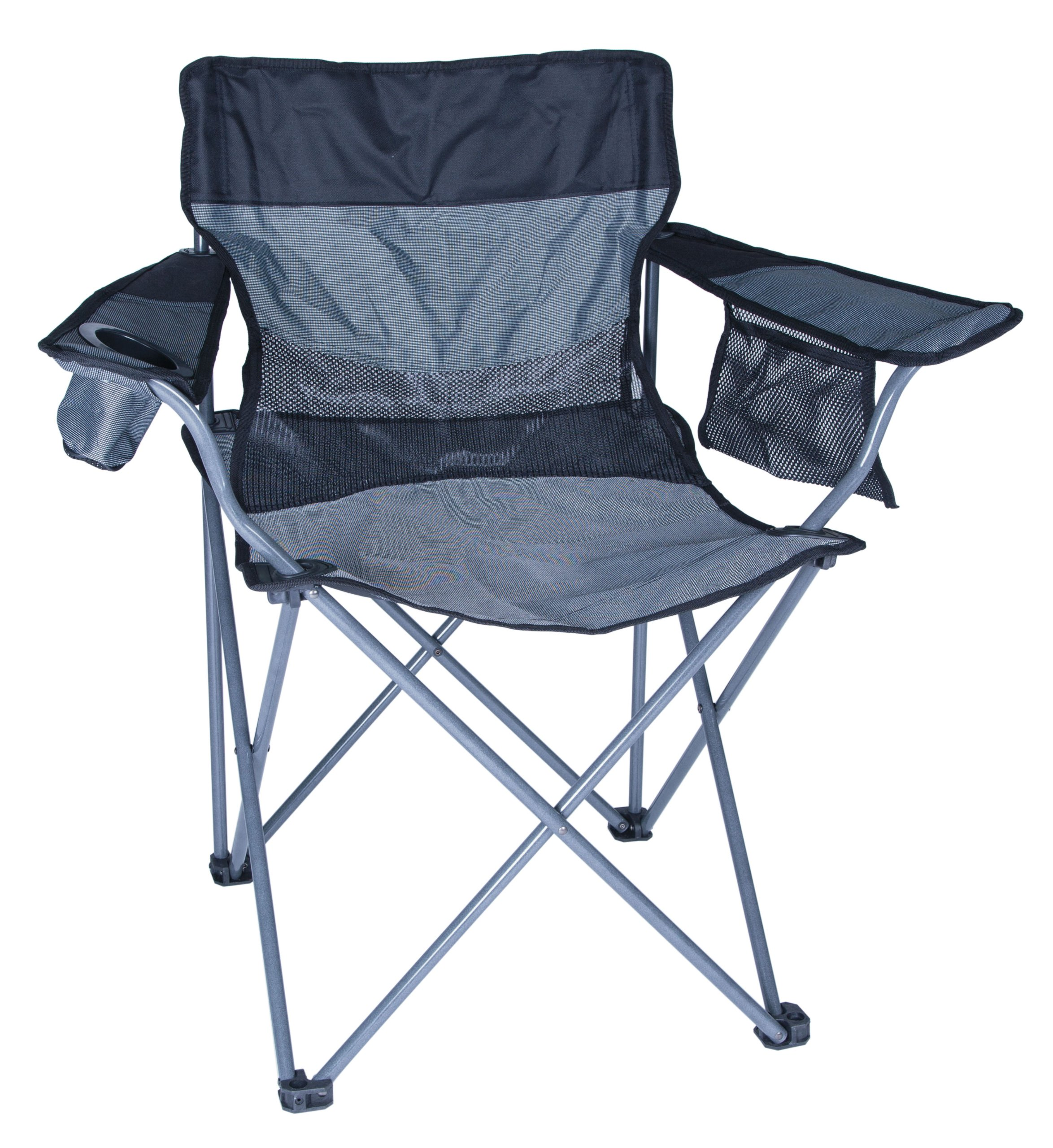 Stansport Apex Oversized High Back Arm Chair (Black/Silver) by Stansport