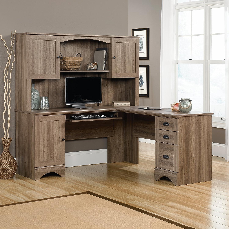 Merveilleux Sauder Harbor View Corner Computer Desk Home Furniture Salt Oak