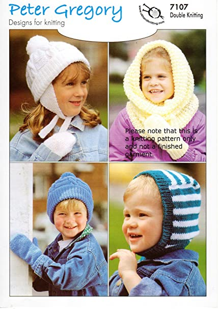 Double Knitting Pattern For Childrens Snood Hats Balaclava 2 12