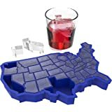 TrueZoo U Blue Silicone Cube Fun Tray for Freezer – Large Ice Mold for JELL-O, Whiskey, Bourbon – Reusable and BPA-Free…