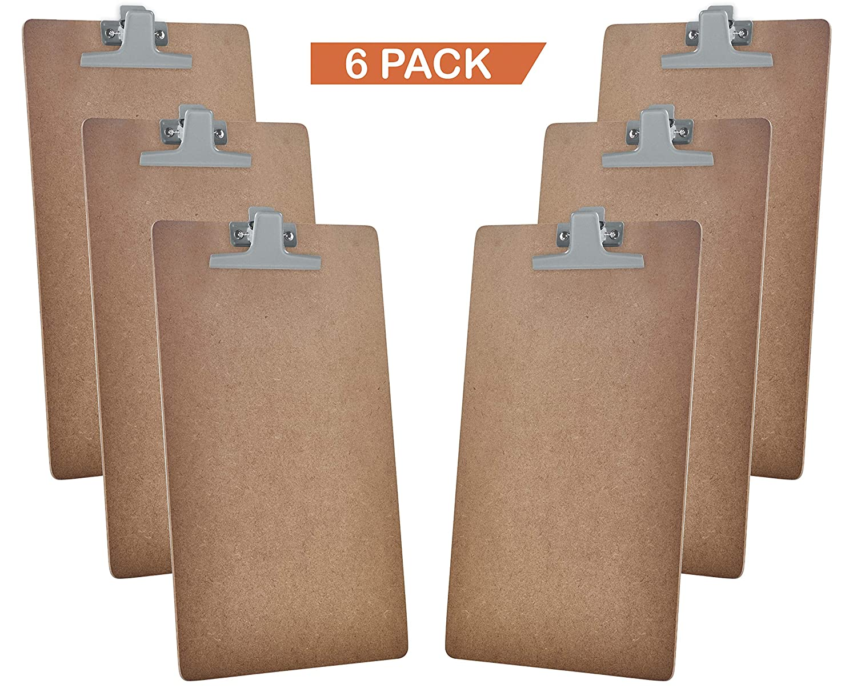 Acrimet Clipboard Legal Size Premium Metal Clip (Hardboard) (Silver Clip) (6 Pack) 116.1