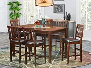 7 Pc Counter height Table set- counter height Table and 6 counter height stool.