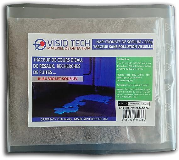 Visio Tech – Localizador incoloro visible bajo UV, polvo soluble en el agua – 200 g: Amazon.es: Bricolaje y herramientas