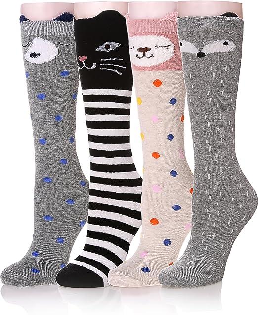 High Socks SFE Women Cat Cartoon Socks Long Socks Over Knee Long Sock