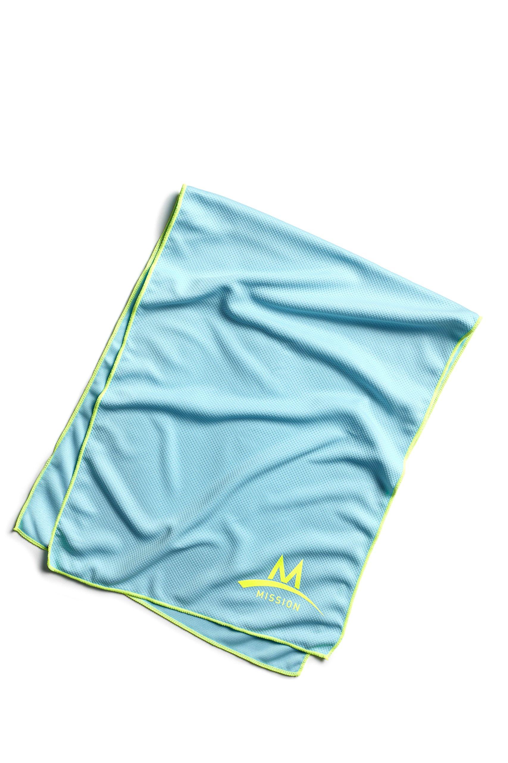 Mission Enduracool Techknit Cooling Towel, Large, Blue Fish