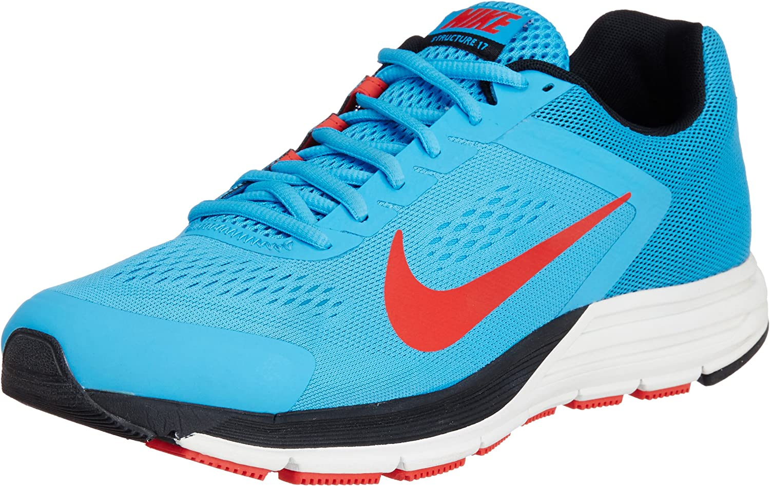 Refinar dinero Consentimiento  Nike Zoom Structure+ 17 Men's Running Shoes, Blue/Black, UK7: Amazon.co.uk:  Shoes & Bags