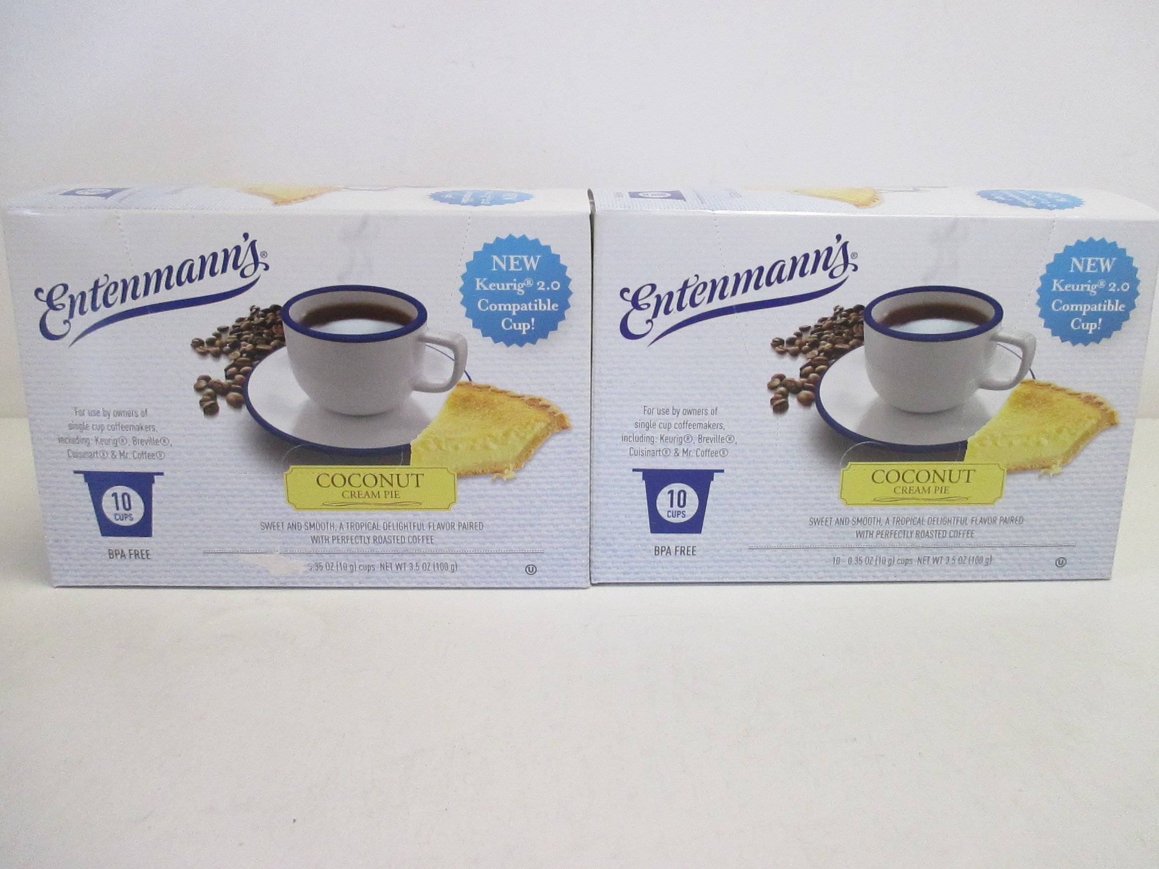 Entenmann's Coconut Cream Pie Coffee K-Cups 2 10 cup boxes