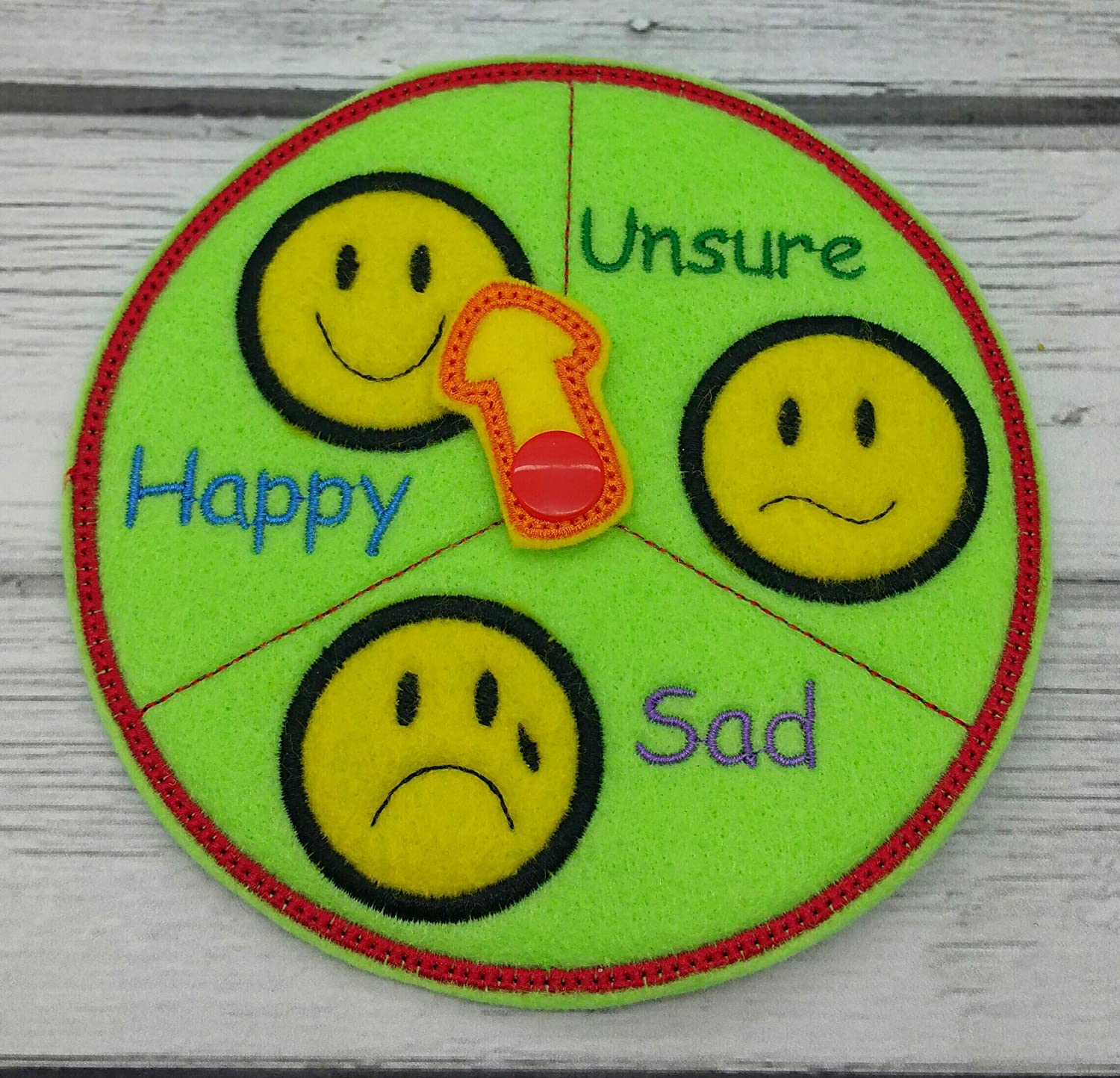 Feeling Emotions Chart For Kids With 3 Faces Self Expression Educational Learning Autism Toys