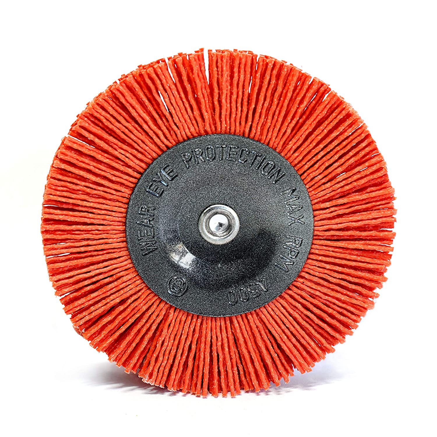6.35 mm hexagonal shaft 1//4 S/&R Nylon Disc brush // wire brush drill bit 100 mm with AGGRESSIVE-NYLON-WIRE for cleaning and polishing wood and metal