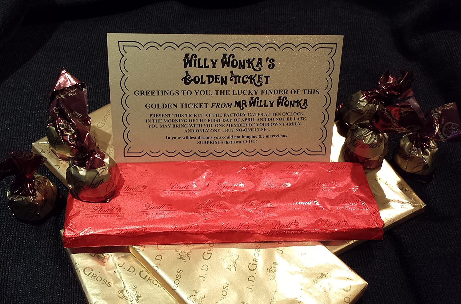 12 x Willy Wonka Golden Tickets - Fast Dispatch - Perfect for a ...