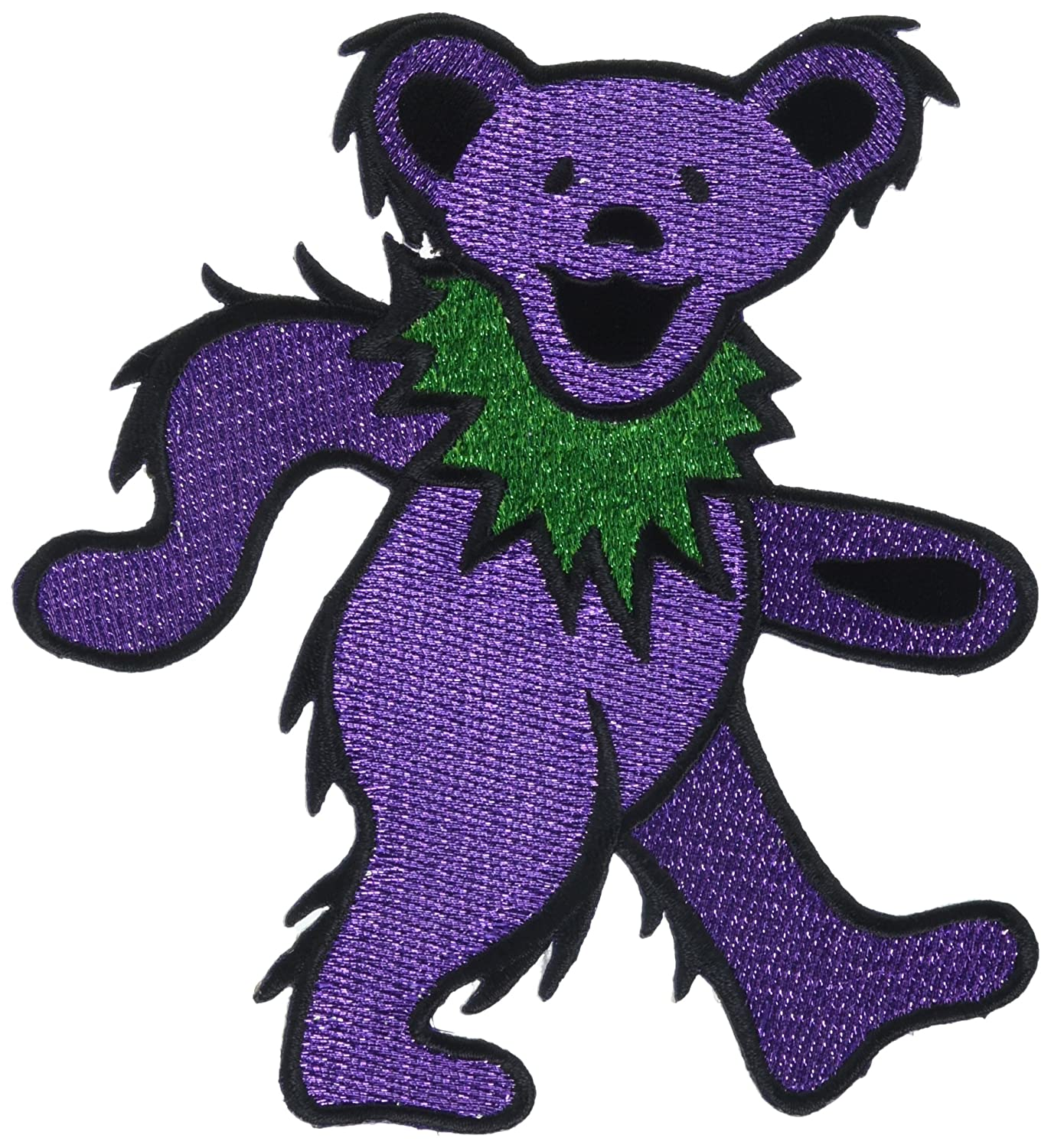 GRATEFUL DEAD Purple Bear Glitter, Officially Licensed Original Artwork, Iron-On / Sew-On, 5' x 4.7' Embroidered PATCH toppa 5 x 4.7 Embroidered PATCH toppa Officially Licensed & Trademarked Products P-1223-G