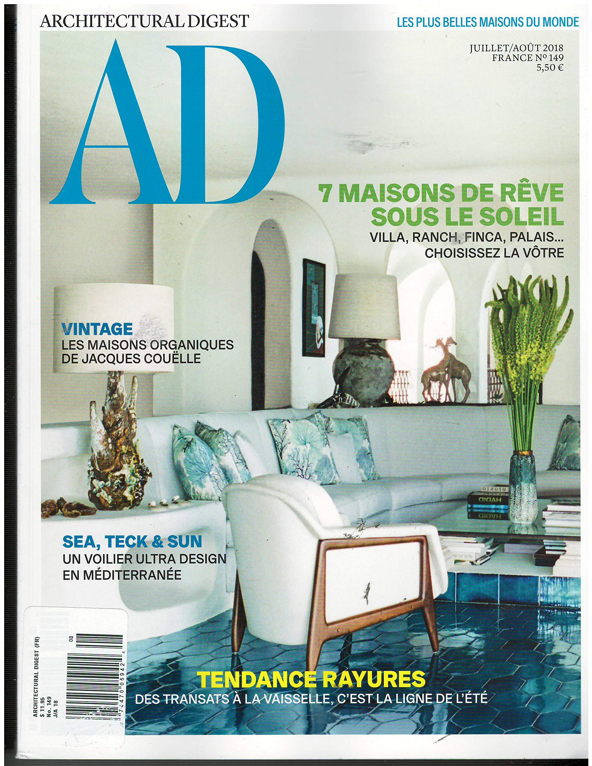 Architectural Digest French Edition Julliet Aout 2018 ...