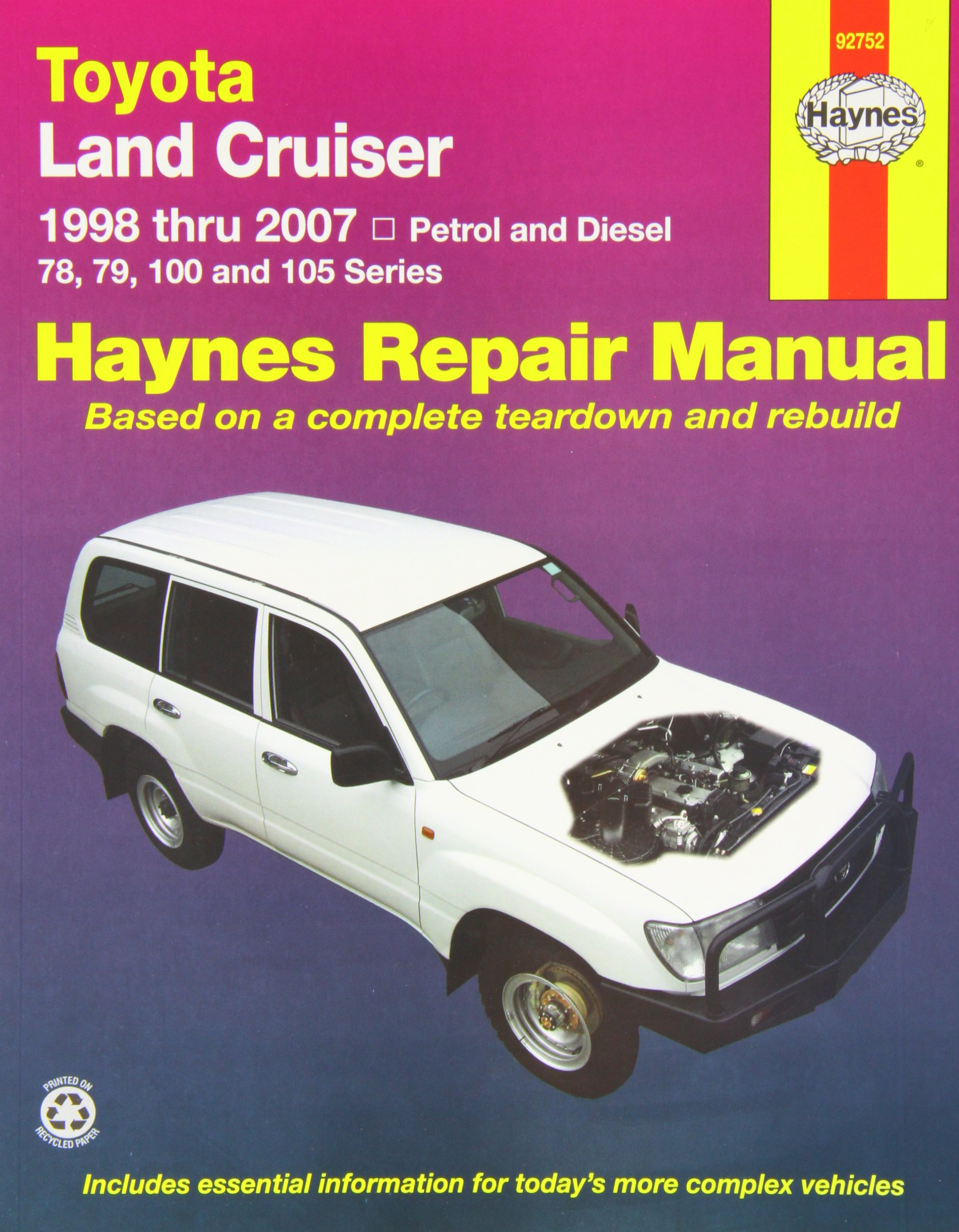 Toyota Landcruiser Repair Manual: 2005-2007.: Haynes Publishing:  9781563928826: Amazon.com: Books