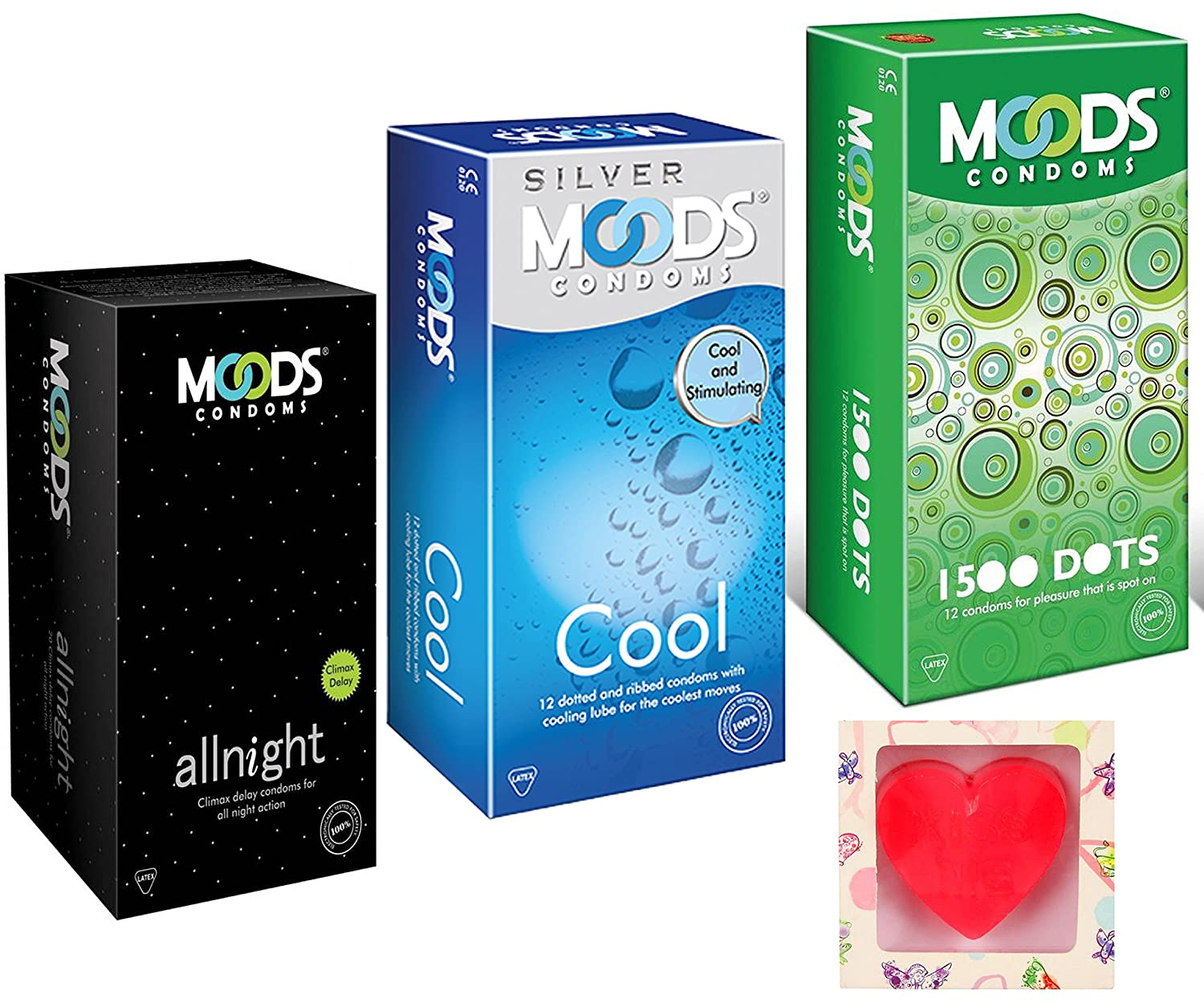 Buy Moods All Night, 1500 Dots & Cool Condoms With Free ...