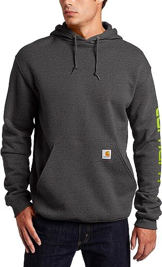 k288 Hoody CARHARTT Men/'s Authentic Hooded Sweatshirt Signature Sleeve Logo