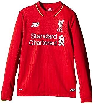 545b044301b New Balance Liverpool Kids (Boys Youth) Long Sleeve Home Football ...