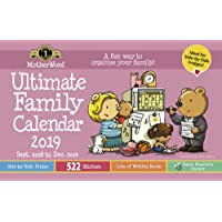 """MotherWord Ultimate Family Magnetic Hanging Calendar, 16-Month, Sept 2018-Dec 2019, English, Medium Side by Side Version, 15"""" x 9.5"""" (MWMK012819)"""