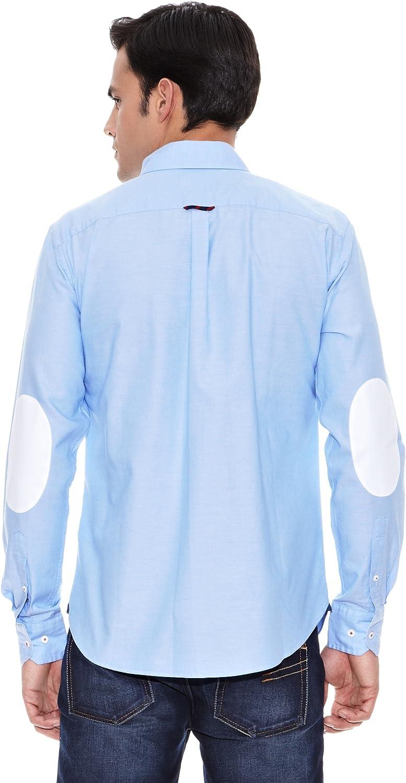 Pedro del Hierro Camisa Sport Coderas Azul L: Amazon.es: Ropa y ...