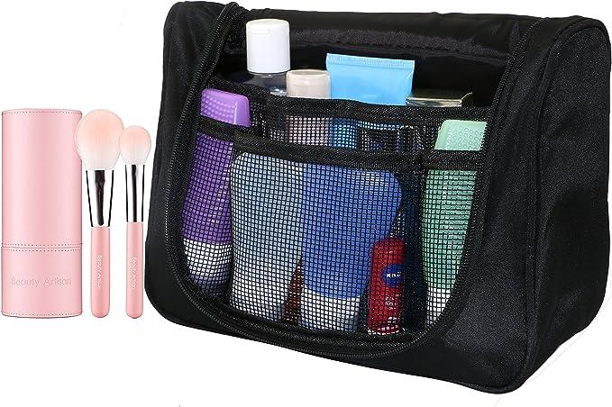 philonext portátil Toiletry Bag, neceser, bolsa de cosméticos de viaje para Hombres, para colgar Toiletry Kit de viaje organizador, negro negro Toiletry Bags: Amazon.es: Equipaje