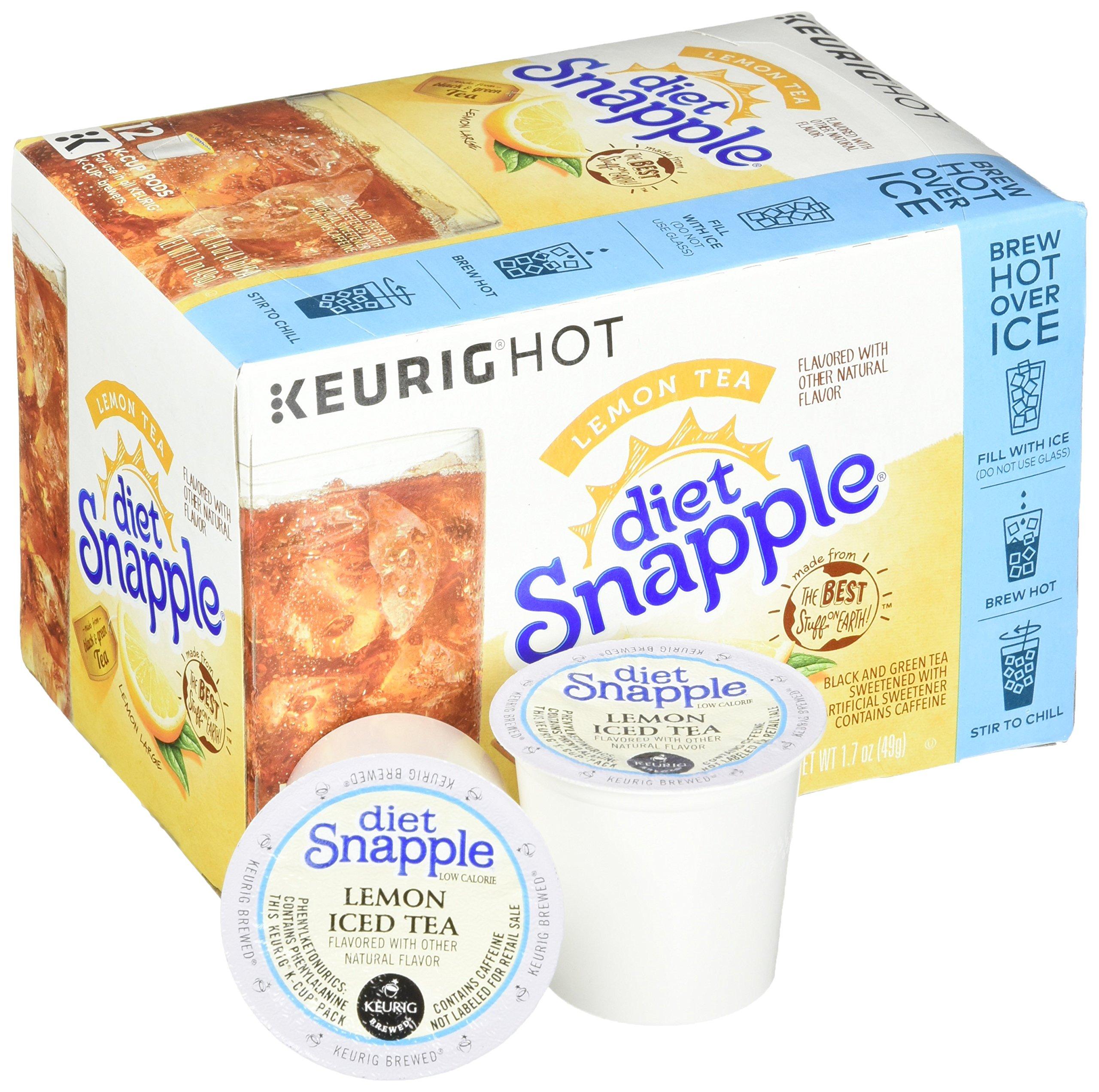 Keurig K Cups Snapple, Diet Lemon Iced Tea , 72 Count by Snapple (Image #5)