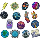 The Carefree Bee - Large Assorted Set of 15 Aesthetic and Cool Outdoors Iron On Patches for Jackets Backpacks Jeans and…