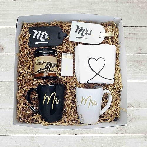 Amazon Com Mr Mrs Wedding Gift Box Unique Wedding Gift Box Engagement Gift For Couple Gift Box For Couple Handmade