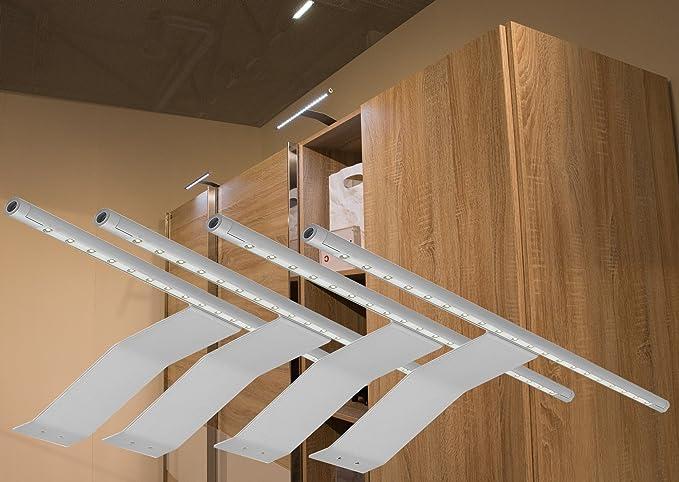4 faretti a led completo set alluminio bianco freddo art. 2086 4