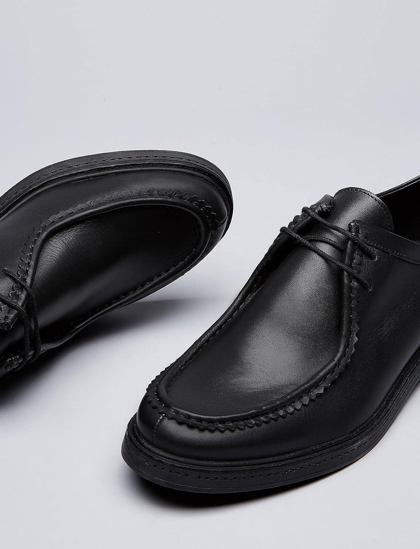 Find Zapatos De Cordones y Costura para Hombre, Negro (Black), 44 EU
