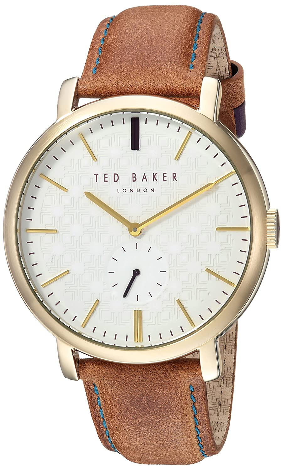 Ted Baker Men 's ' Trent ' QuartzステンレススチールandレザーCasual Watch, Color : Brown (Model : te15193006 ) B072ZQFPR9