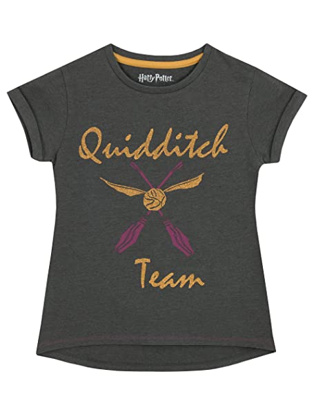 HARRY POTTER - Camiseta para niñas Quidditch: Amazon.es: Ropa y accesorios
