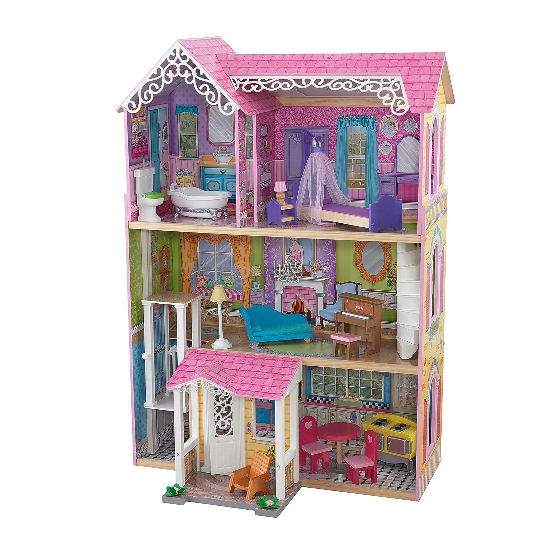 KidKraft Sweet and Pretty Dollhouse Toy Dolls House Girls Kids Barbie Size Up to 12 Inch Tall Dolls