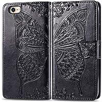Hoesje voor iPhone 8/7/iPhone SE 2020 PU Lederen Flip Cover Notebook Portemonnee Telefoonhoesje met Magnetische Sluiting…