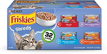 Purina Friskies Canned Wet Cat Food 32 Count Variety Packs