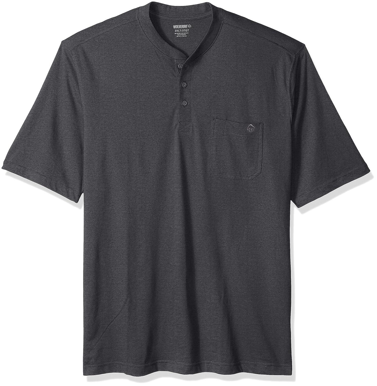 ウルヴァリンMen 's Big and Tall Knox Wicking Pocketed半袖ヘンリーTシャツ B01MXLBJP6 XXXX-Large|グラニテヘザー グラニテヘザー XXXX-Large