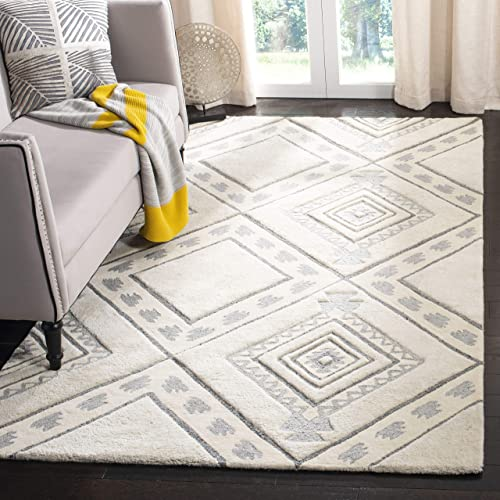 Safavieh Casablanca Collection Abstract Area Rug, 4 x 6 , Ivory Grey