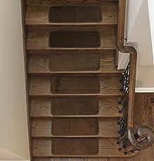 Ottomanson Softy Stair Tread Mats, Skid Resistant, Rubber Backing, Non Slip  Carpet,