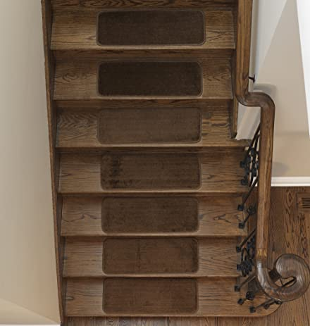 Softy Stair Tread Mats, Skid Resistant, Rubber Backing, Non Slip Carpet,  9u0026quot