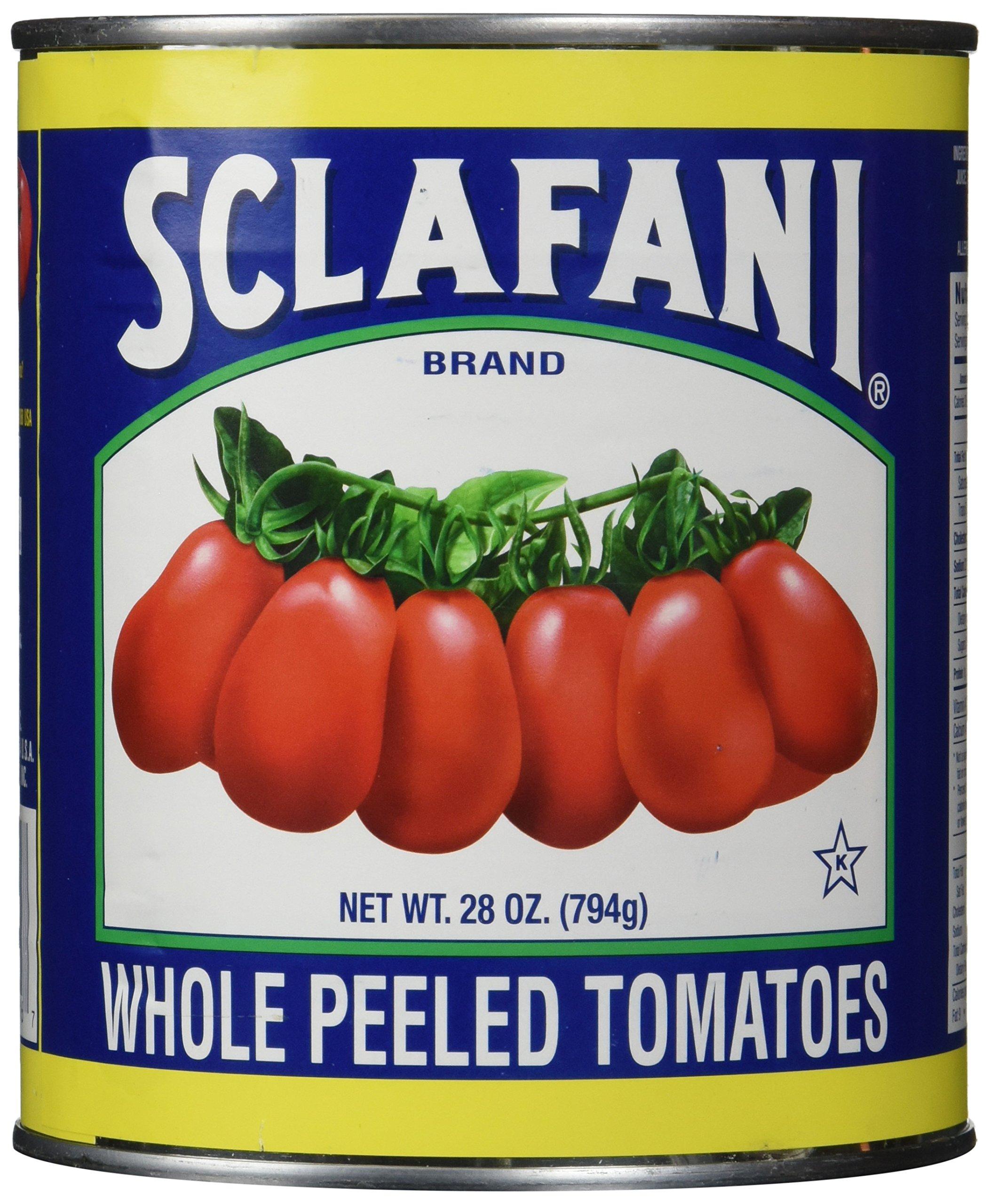Sclafani Whole Peeled Tomatoes, 28 Ounce (Pack of 12)