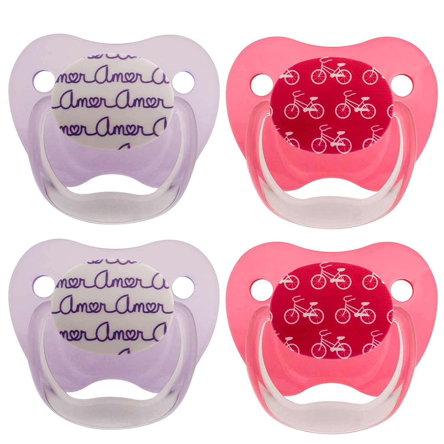 Dr. Brown's Classic Prevent Pacifier, Wild Pink, 6-12 Months+, 4 Count