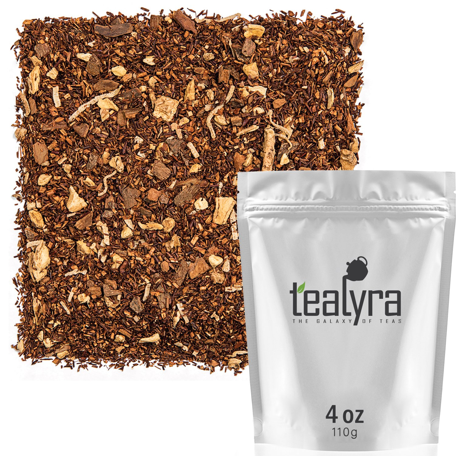 Tealyra - Rooibos Coconut Vanilla Chai - Ginger and Cinnamon with Red Bush Rooibos Herbal Loose Leaf Tea - Antioxidants Rich - Caffeine-Free - 110g (4-ounce) by Tealyra