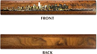 "product image for 12"" Solid Wood New York Skyline Ruler - Made in USA"